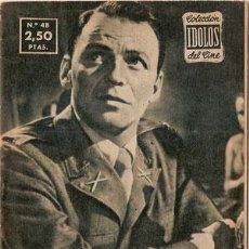 Cine: FRANK SINATRA - BIOGRAFIA DE SU VIDA ARTISTICA. COLECCION IDOLOS DEL CINE Nº 48, AÑO 1958.. Lote 29203319