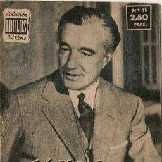 Cine: VITTORIO DE SICA - BIOGRAFIA DE SU VIDA ARTISTICA. COLECCION IDOLOS DEL CINE Nº 11, AÑO 1958.. Lote 29203445
