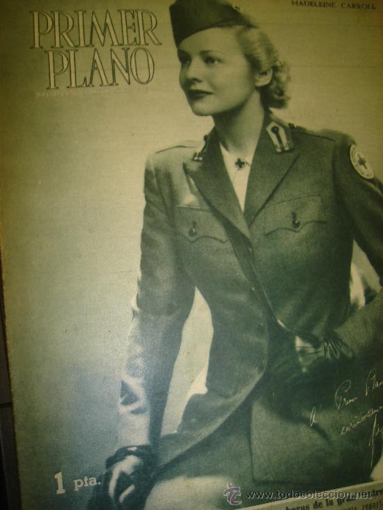 REVISTA PRIMER PLANO Nº 290 MADELEINE CARROLL, JAMES GRAIG, HEDY LAMARR, VICTOR FRANCEN (Cine - Revistas - Primer plano)