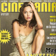 Cine: CINEMANÍA. AGOSTO 2005. Nº 119. ANGELINA JOLIE. KING KONG. NINETTE. ELSA PATAKY. SIN CITY.TODO CINE.. Lote 29323071