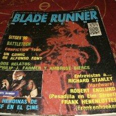 Cine: BLADE RUNNER MAGAZINE. 02-SITGES 90-BATTLETECH-UN COMIC DE ALFONSO FONT-LAS HEROINAS DE LA SF EN EL. Lote 29367437