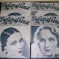 REVISTA LA GOLONDRINA DE 1936- LOTE DE 22 REVISTAS DE CINE, DOLORES DEL RIO,MARLENE DIETRICH Y ETC.