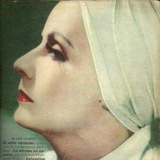 Cine: GRETA GARBO REVISTA LECTURAS AÑO 1935. Lote 29396000