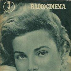 Cine: GRACE KELLY REVISTA RADIOCINEMA AÑO 1956. Lote 29396044