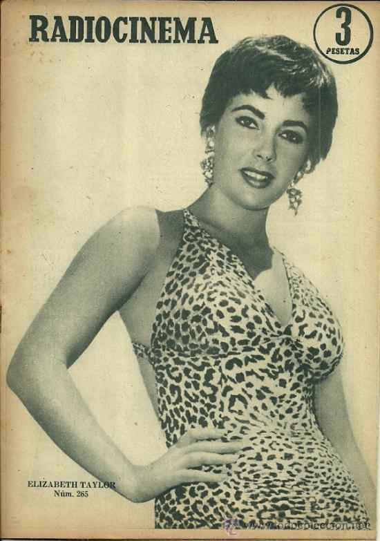 ELIZABETH TAYLOR REVISTA RADIOCINEMA AÑO 1955 (Cine - Revistas - Radiocinema)