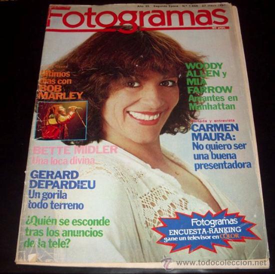 FOTOGRAMAS - Nº 1659 - MAYO 1981 - CARMEN MAURA (Cine - Revistas - Fotogramas)