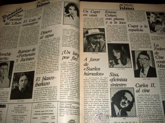 Cine: FOTOGRAMAS - Nº 1586 - MARZO 1979 - VICTORIA ABRIL - Foto 3 - 29438807