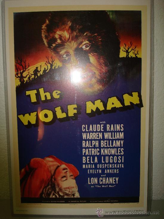EL HOMBRE LOBO-LON CHANEY-THE WOLF MAN (Cine - Reproducciones de carteles, folletos...)