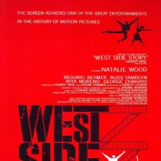 Cinéma: LAMINA CARTEL CINE . WEST SIDE STORY.. Lote 29625755