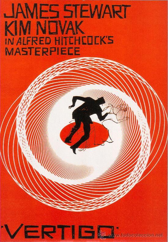 LAMINA CARTEL GIGANTE 120X 90 CM. EN PAPEL GRUESO (ALTA CALIDAD) . VERTIGO. (Cine - Reproducciones de carteles, folletos...)