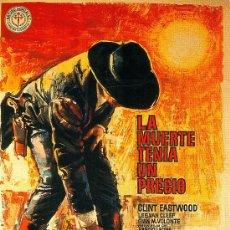 Cine: LAMINA CARTEL DE CINE 60 X 85 CM. APROX. EN PAPEL GRUESO (ALTA CALIDAD) .LA MUERTE TENIA UN PRECIO.. Lote 29626800