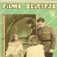 Cine: REVISTA DE CINE FILMS SELECTOS Nº 106 DE 1932. Lote 29632248