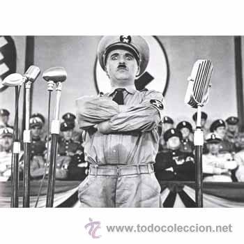 CUADRO EN MADERA DE 40X28 CM: CHAPLIN, GRAN DICTADOR, FOTOGRAMA (Cine - Revistas - Colección grandes películas)