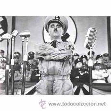 Cine: CUADRO EN MADERA DE 40X28 CM: CHAPLIN, GRAN DICTADOR, FOTOGRAMA . Lote 29754339