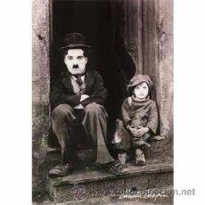 Cine: CUADRO EN MADERA DE 40X28 CM: CHAPLIN, THE KID: FOTOGRAMA DE EL CHICO . Lote 29754361