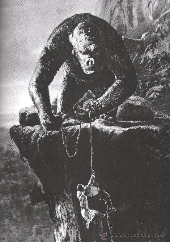 CUADRO EN MADERA DE 40X28 CM: KING KONG: FOTOGRAMA (Cine - Revistas - Colección grandes películas)