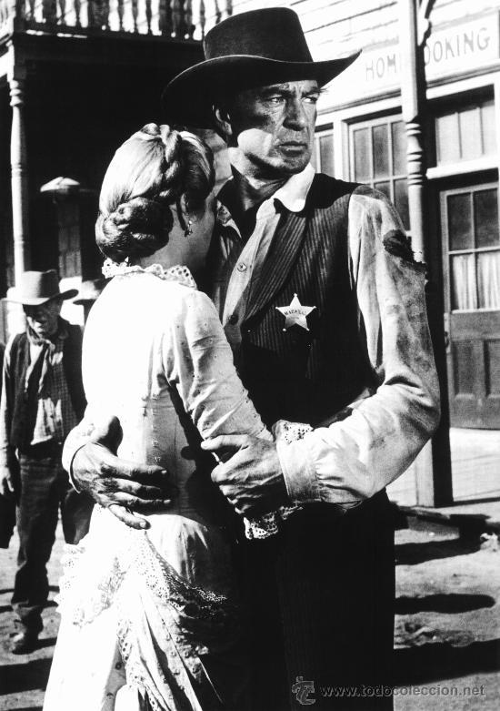 CUADRO EN MADERA DE 40X28 CM: GARY COOPER: FOTOGRAMA WESTERN (Cine - Revistas - Colección grandes películas)