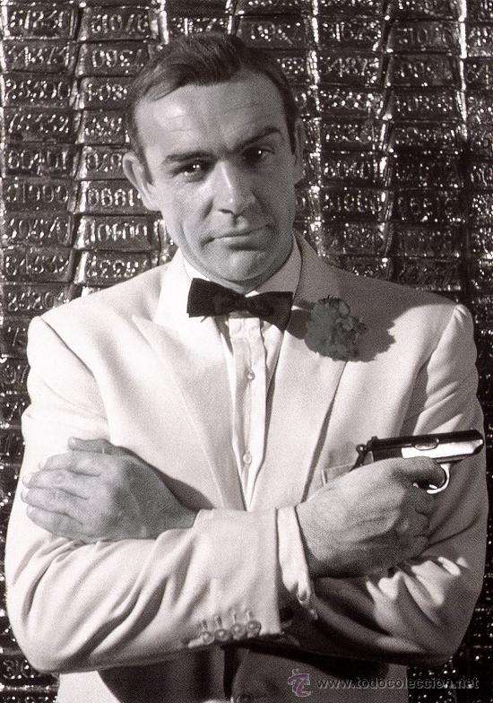 Cine: CUADRO EN MADERA DE 40X28 CM: James Bond, Sean Connery - Foto 1 - 29761731