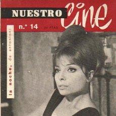 Cine: NUESTRO CINE Nº 14 - NOVIEMBRE DE 1962. Lote 29901387
