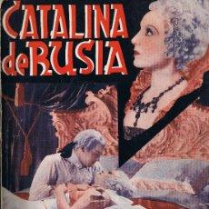 Cine: CATALINA DE RUSIA - EDICIONES BISTAGNE - LA NOVELA SEMANAL CINEMATOGRÁFICA. Lote 29914737
