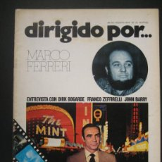 Cine: DIRIGIDO POR Nº 15. DIRK BOGARDE, MARCO FERRERI.. Lote 167942638