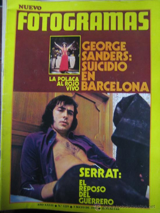 REVISTA FOTOGRAMAS Nº 1229 JOAN MANUEL SERRAT - MUERTE GEORGE SANDERS (Cine - Revistas - Fotogramas)