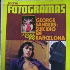 Cine: REVISTA FOTOGRAMAS Nº 1229 JOAN MANUEL SERRAT - MUERTE GEORGE SANDERS. Lote 30060748