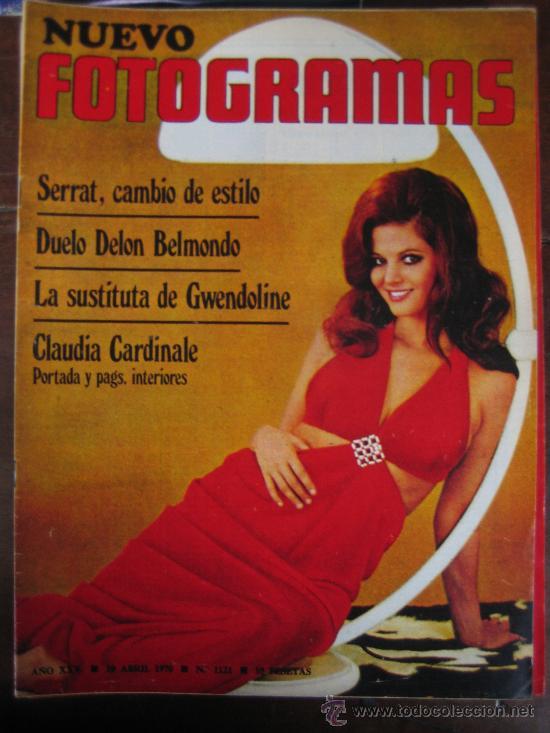 REVISTA FOTOGRAMAS Nº 1121 JOAN MANUEL SERRAT CLAUDIA CARDINALE (Cine - Revistas - Fotogramas)