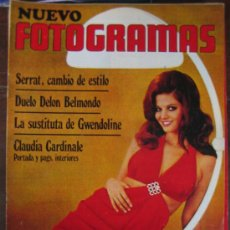 Cine: REVISTA FOTOGRAMAS Nº 1121 JOAN MANUEL SERRAT CLAUDIA CARDINALE. Lote 30122294
