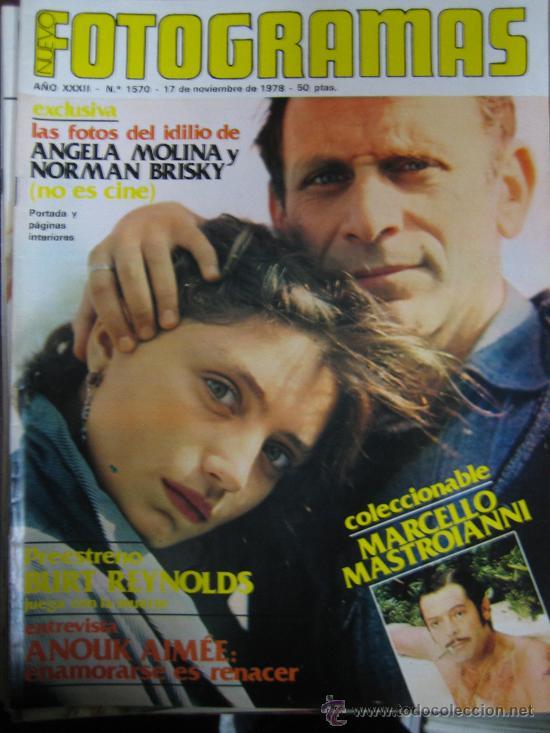 FOTOGRAMAS Nº 1570 ANGELA MOLINA (Cine - Revistas - Fotogramas)