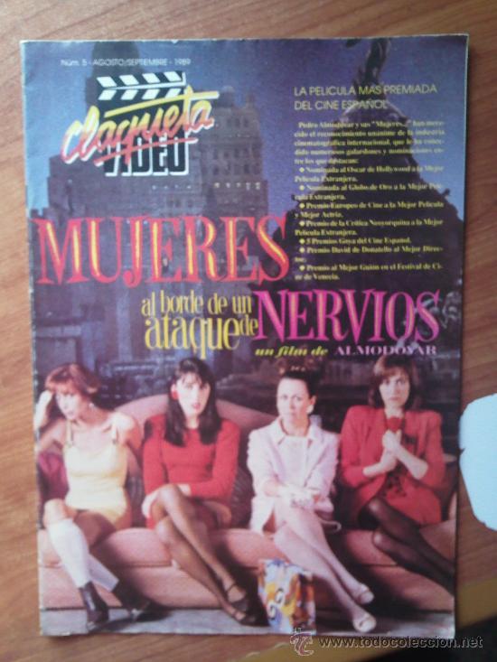 CLAQUETA Nº 5 - MUJERES AL BORDE DE UN ATAQUE DE NERVIOS - PEDIDO MINIMO 6€ (Cine - Revistas - Claqueta)