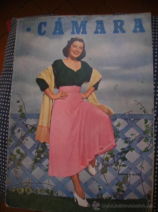 CÁMARA 1 SEPTIEMBRE DE 1949- PORTADA BARBARA BATES (Cine - Revistas - Cámara)