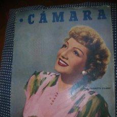 Cine: CÁMARA 15 AGOSTO DE 1949- PORTADA CLAUDETTE COLBERT. Lote 30677717