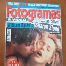 Cinema: FOTOGRAMAS Nº 1800 AÑO 1993 - SHARON STONE - WILLIAM BALDWIN - SCHWARZENEGGER *. Lote 182005406