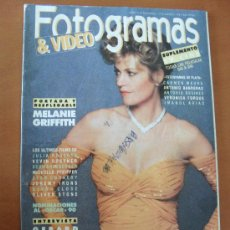 Cinema: FOTOGRAMAS Nº 1772 AÑO 1991 - MELANIE GRIFFITH - GERAR DEPARDIEU - SEAN CONNERY - GLEN CLOSE *. Lote 182005380