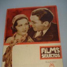 Cinema: ANTIGUA REVISTA FILMS SELECTOS CON PAT O'BRIEN Y MARY BRIAND DE Nº 101 DE 1932. Lote 30729976