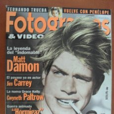 Cine: FOTOGRAMAS Nº 1861 AÑO 1998 - MATT DAMON - JIM CARREY - GWYNETH PALTROW - CAMERON DIAZ*. Lote 30730036