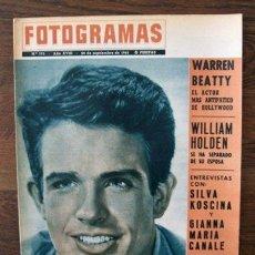 Cine: FOTOGRAMAS 773 - WARREN BEAUTY, WILLIAM HOLDEN, SILVA KOSCINA, CATHERINE SPAAK, JOHN WAINE... 1963. Lote 30744545