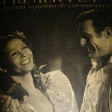 Cinema: REVISTA PRIMER PLANO, ABRIL 1942,Nº77,CONCHITA MONTES,CLAUDIO DE LA TORRE,WALLACE BEERY,ANN RUTHEFOR. Lote 30815443
