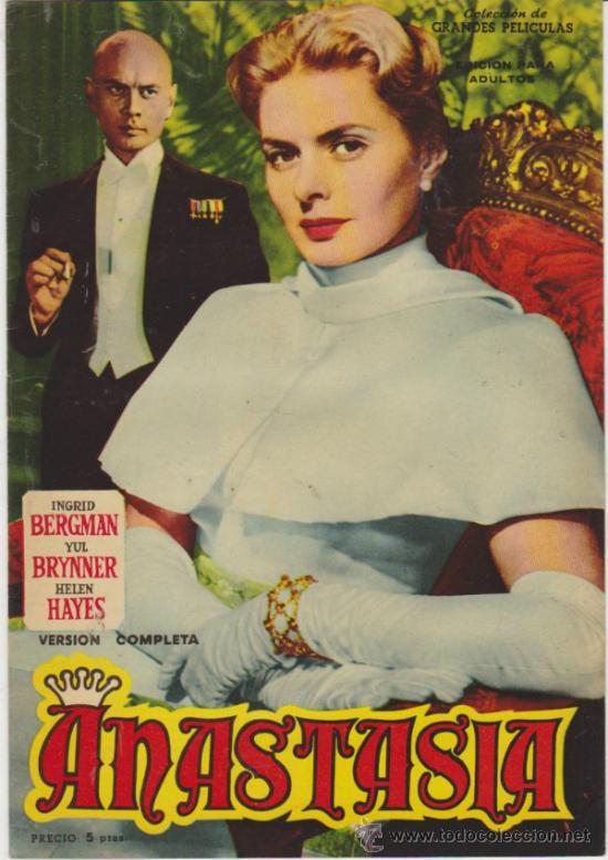 ANASTASIA. GRANDES PELÍCULAS. EDITORIAL FHER 1959. (Cine - Revistas - Colección grandes películas)
