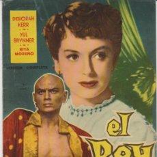 Cine: GRANDES PELICULAS Nº 20. EL REY Y YO. FHER 1959.. Lote 31077041