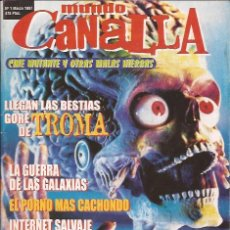 Cine: REVISTA DE CINE-MUNDO CANALLA NUM.1-MARZO 97-FANZINE-TIM BURTON. Lote 31092217