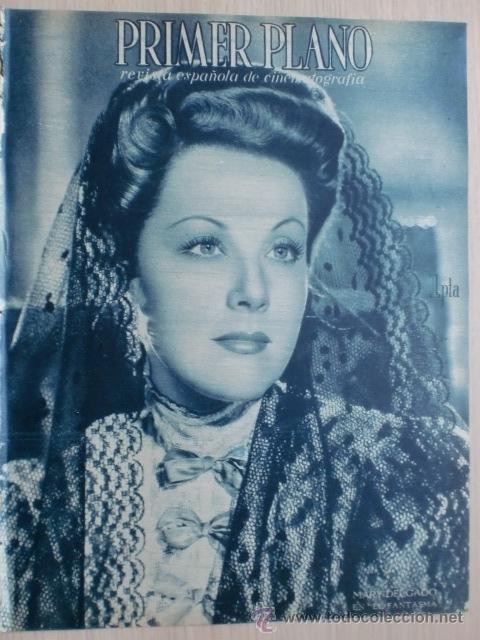 REVISTA PRIMER PLANO. OCTUBRE 1944. Nº 207. MARY DELGADO EN EL FANTASMA Y DOÑA JUANA. RAFAEL DURAN. (Cine - Revistas - Primer plano)