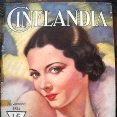 Cine: CINELANDIA - NOVIEMBRE DE 1934. Lote 31132615