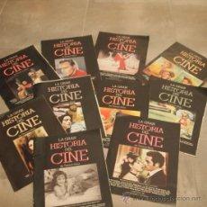 Cine: LOTE 10 TOMOS COLECCIONABLES LA GRAN HISTORIA DEL CINE,. Lote 31153507