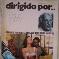 Cine: REVISTA DIRIGIDO POR Nº 25 JOSEPH LOSEY FURTIVOS OVIDI MONTLLOR. Lote 31203450