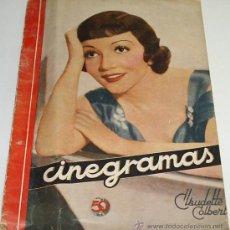 Cine: CINEGRAMAS - Nº 9 - NVBRE. 1934 - 37,5 X 28 - CHAPLIN, PUBLICIDAD DE PELICULAS.-LEER ENVIOS Y FOTOS. Lote 31308123