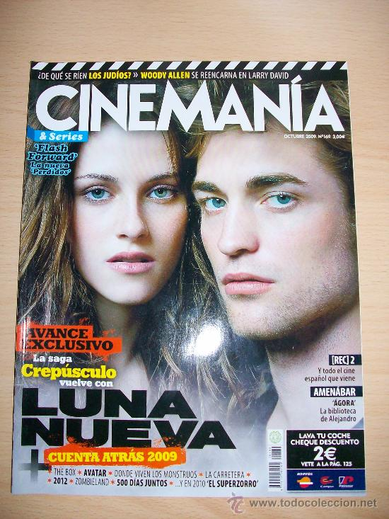 CINEMANIA Nº 169 - AVANCE EXCLUSIVO 6 PAGINAS CREPÚSCULO - LUNA NUEVA - AGORA DE AMENABAR (Cine - Revistas - Cinemanía)
