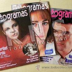 Cine: LOTE DE 3 REVISTAS FOTOGRAMAS TV CINE SUPLEMENTO AÑOS 90 MARIBEL VERDÚ ANTONIO BANDERAS CARMEN MAURA. Lote 31389383