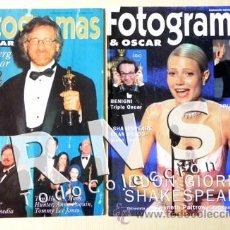 Cine: LOTE 2 FOTOGRAMAS Y OSCAR AÑOS 90 SUMPLEMENTOS - REVISTAS SPIELBERG TRUEBA PALTROW CINE REVISTA. Lote 31403600